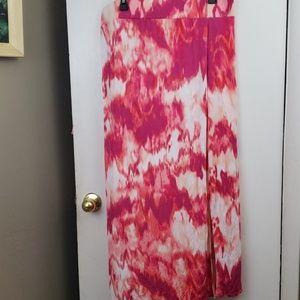 A.N.A tie dye maxi skirt